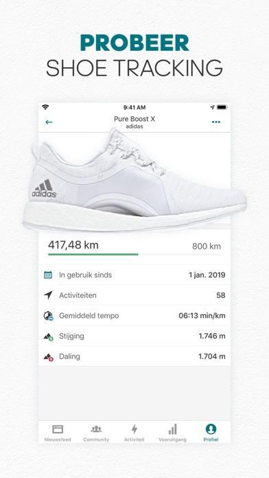 adidas Running by Runtastic iPhone app afbeelding 8