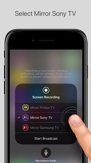screen mirroring iphone mirror for sony tv on the app 1588