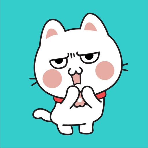 Fluffy Cat Animated Stickers