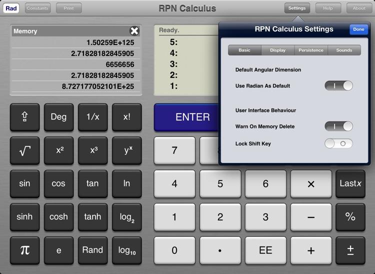 RPN Calculus screenshot-3