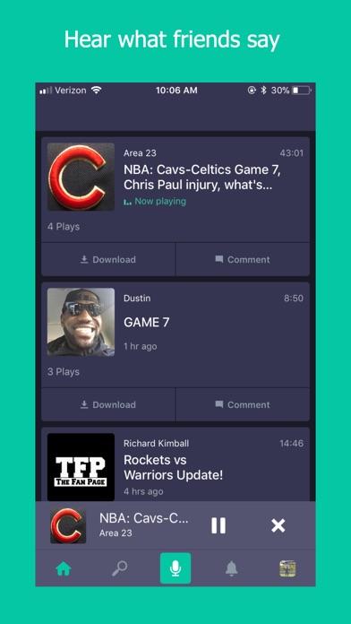 Screenshot of Gametakes: talk sports App