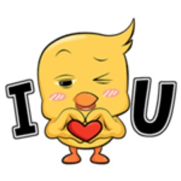 Birdy With Love Stickers
