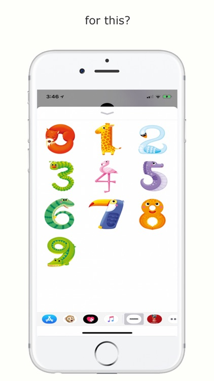 Numbers Sticker App