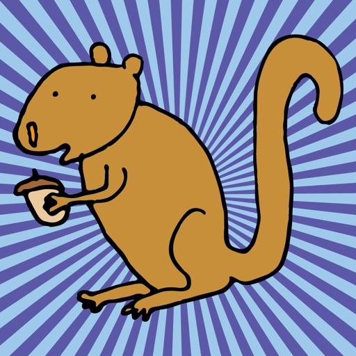 Happy Squirrels Stickers