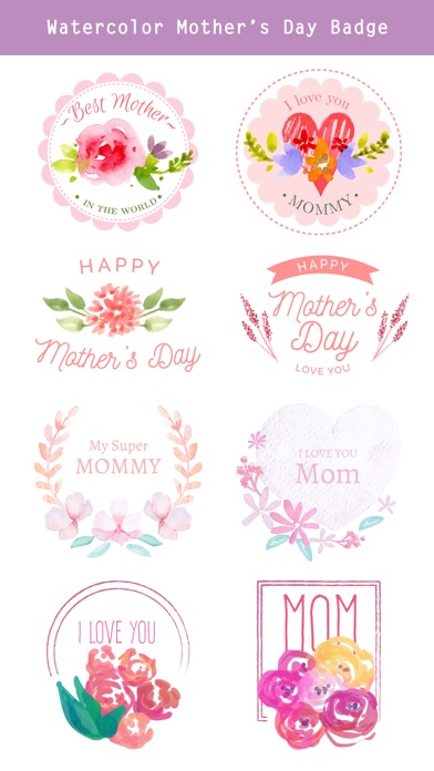 Watercolor Mother's Day Pack screenshot 4