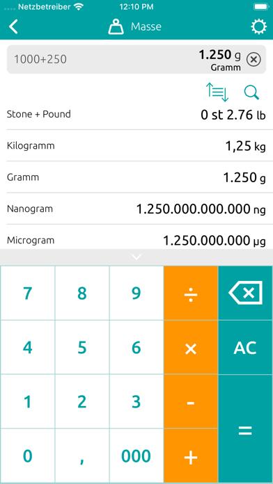 Einheitenrechner - UmrechnerScreenshot von 7