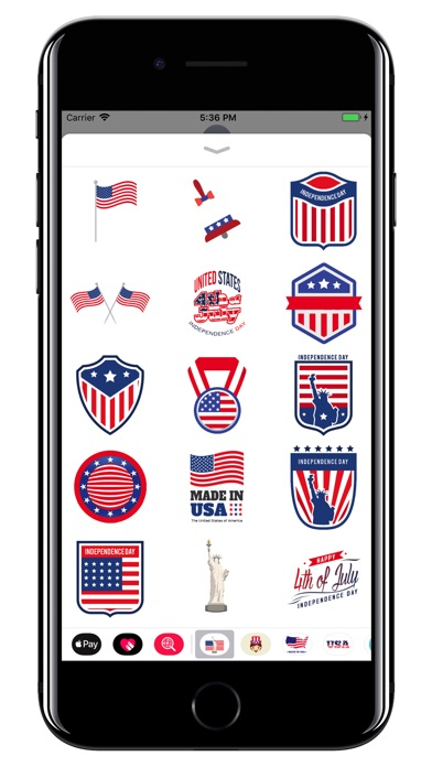 usa stickers 4th of july app report on mobile action app store optimization and app analytics. Black Bedroom Furniture Sets. Home Design Ideas