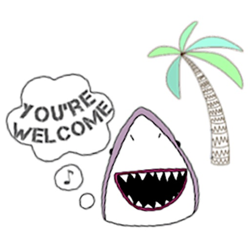 Funny Shark SharkMoji Sticker