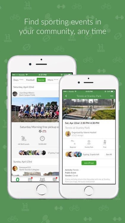 OpenSports - meetup for sports