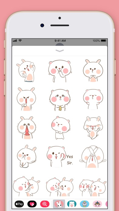 Cute Rabbit Kawaii Stickers screenshot three