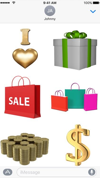 I Love Shopping Sticker Pack for iMessage screenshot-3