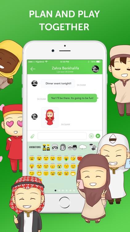 Muslim Emoji Messaging App