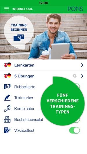 PONS Vokabeltrainer Screenshot