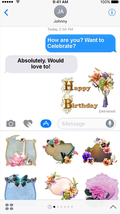 Flowers For You Sticker Pack For iMessage