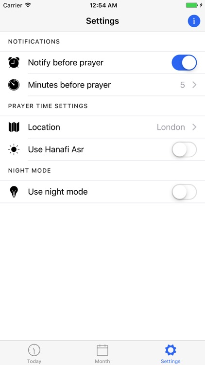 London Prayer Times