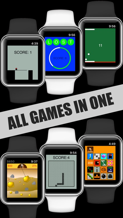 17 Mini Games For Watch & Phone