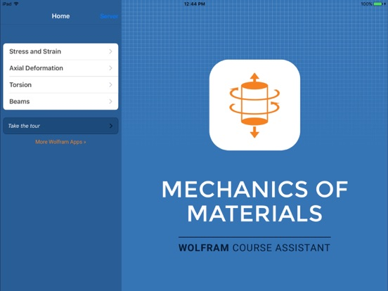Wolfram Mechanics of Materials Course Assistant-ipad-0