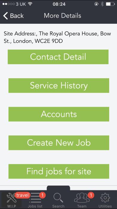 ezService Screenshot on iOS