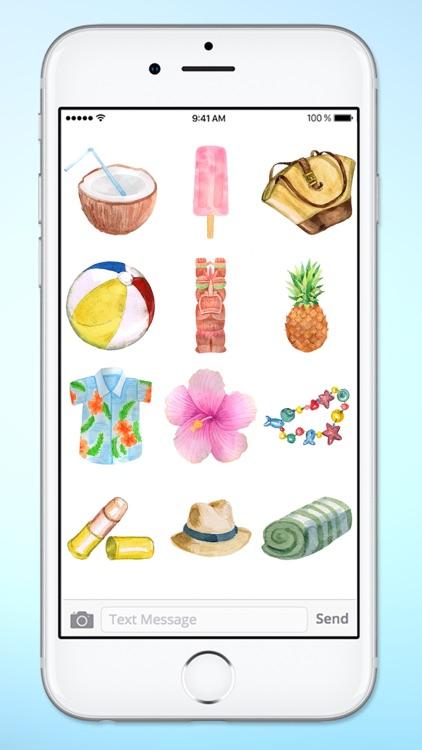 Surfs Up Summer Vacation Beach Sticker Pack screenshot-4