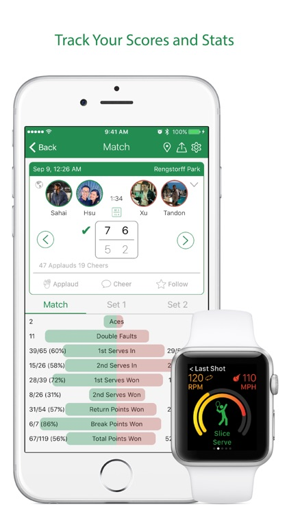 Swing Tennis Score Tracker Tennis Activity Tracker