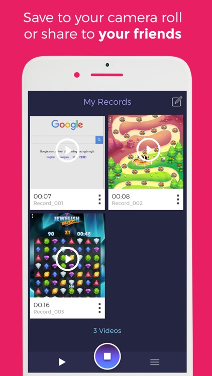 Game Recorder: Record web H5 Games as Videos HD