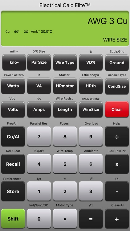 Electrical Calc Elite NEC Code Calculator