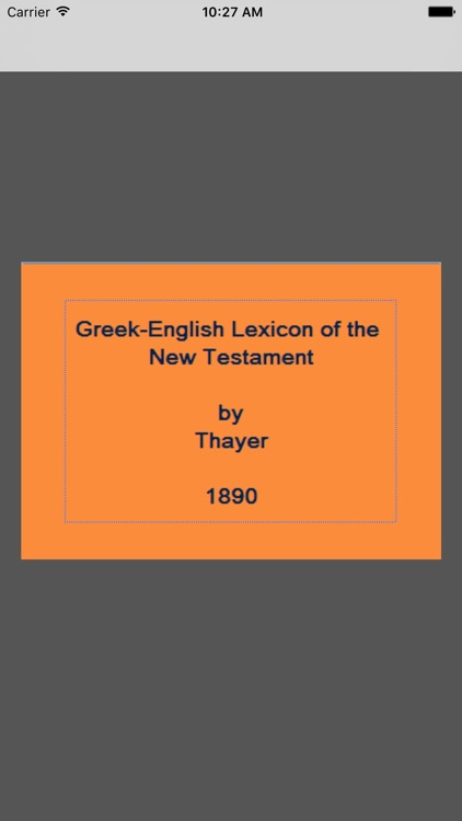 Greek-English (Thayer)