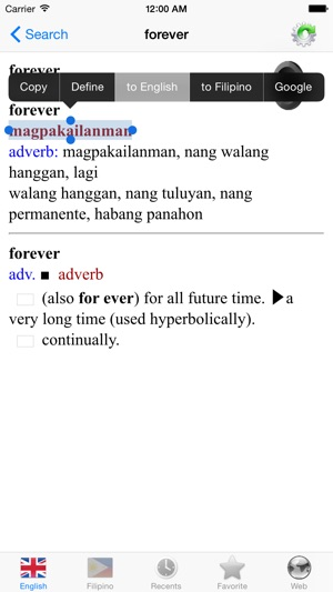 English Filipino best dictionary translator on the App Store