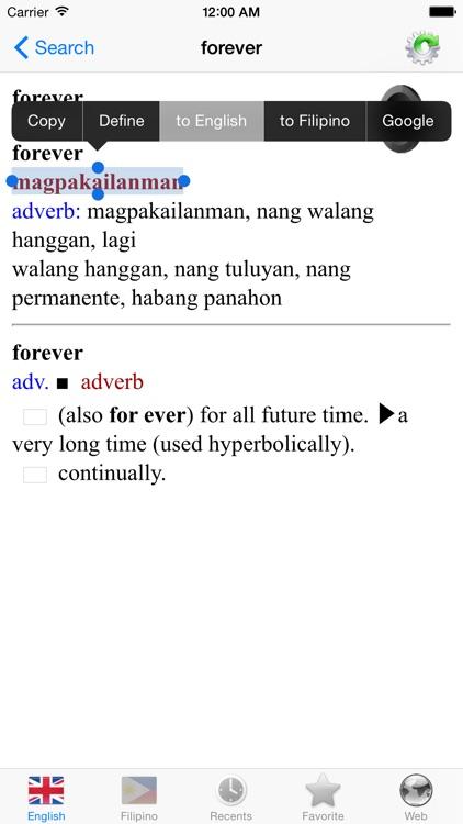 English Filipino best dictionary translator by Nguyen Van Thanh