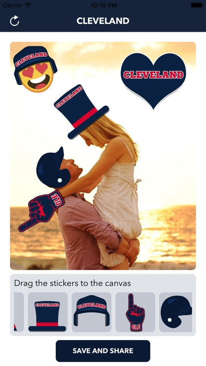 Cleveland Baseball Stickers & Emojis screenshot-0
