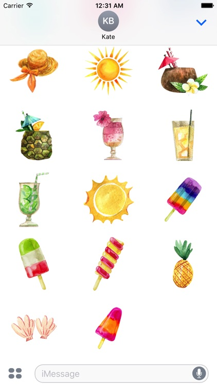 Pretty Summer Holiday Stickers Pack screenshot-3