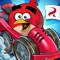 Downhill racing has come to Piggy Island, and the Angry Birds are in on the action