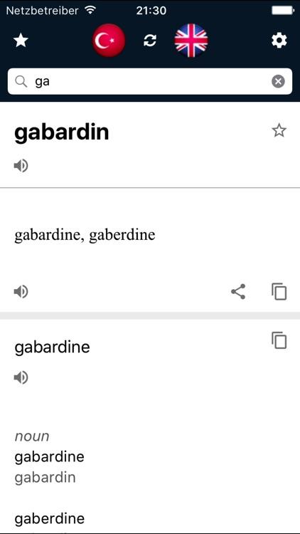 Turkish English Dictionary screenshot-3