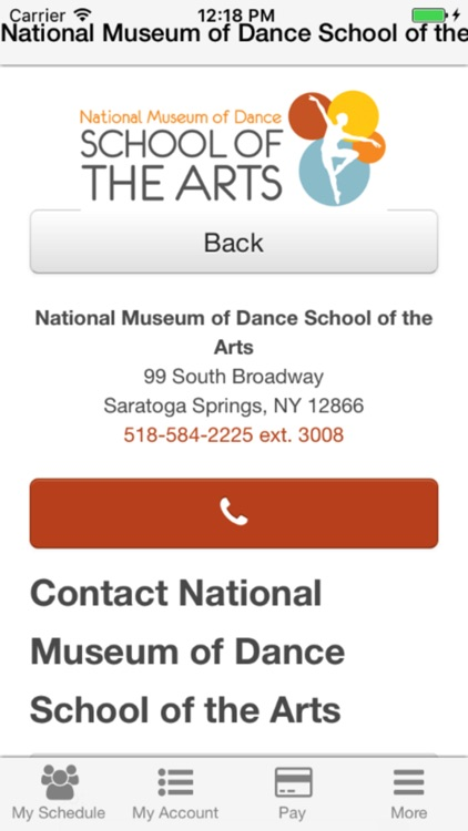 National Museum of Dance School of the Arts