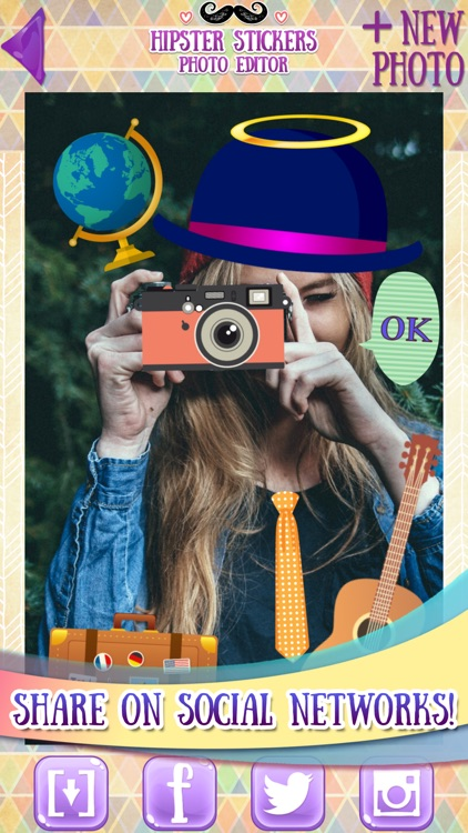 Hipster Stickers for Pictures screenshot-4
