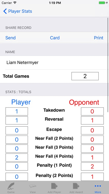 Wrestling Game Tracker & Player Stats Manager