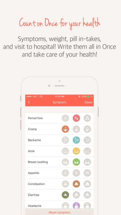 Once(A special period tracker) screenshot-3