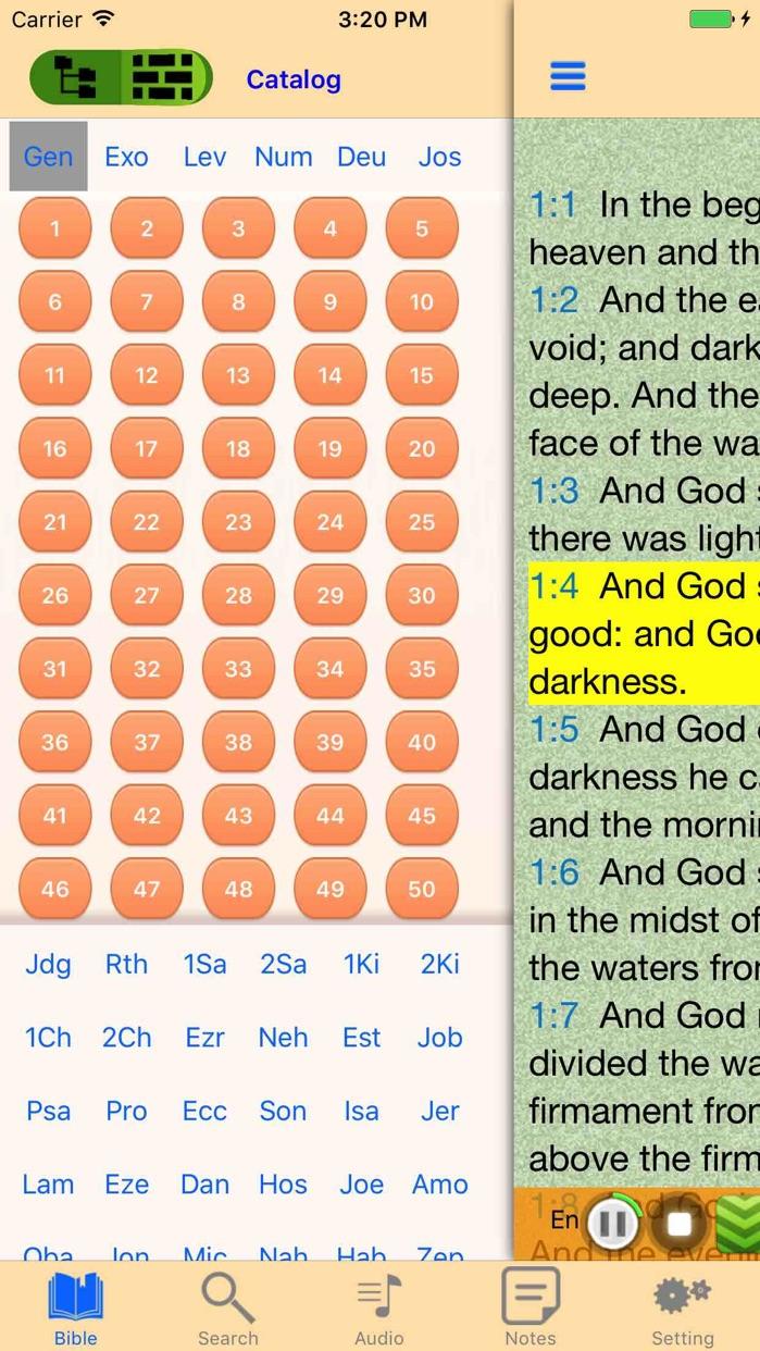 King James Version Bible Audio offline Scriptures Screenshot