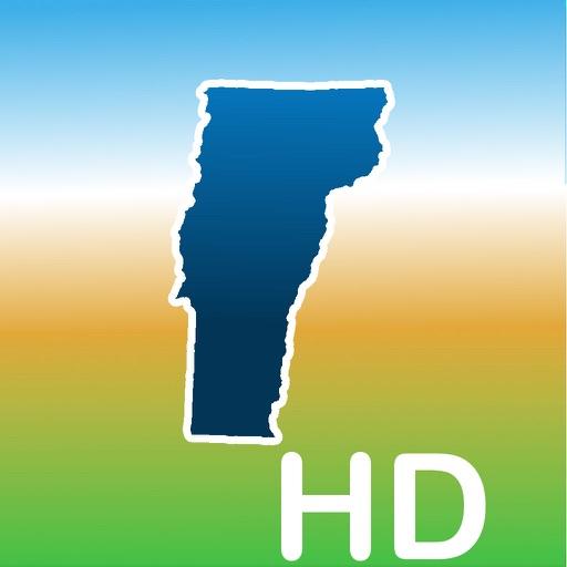 Aqua Map Vermont VT Lakes HD - GPS Nautical Charts