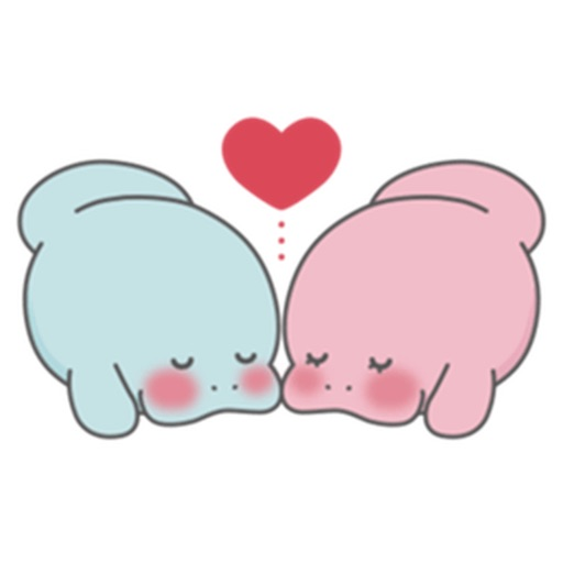 Cute and Shy American Manatee Sticker