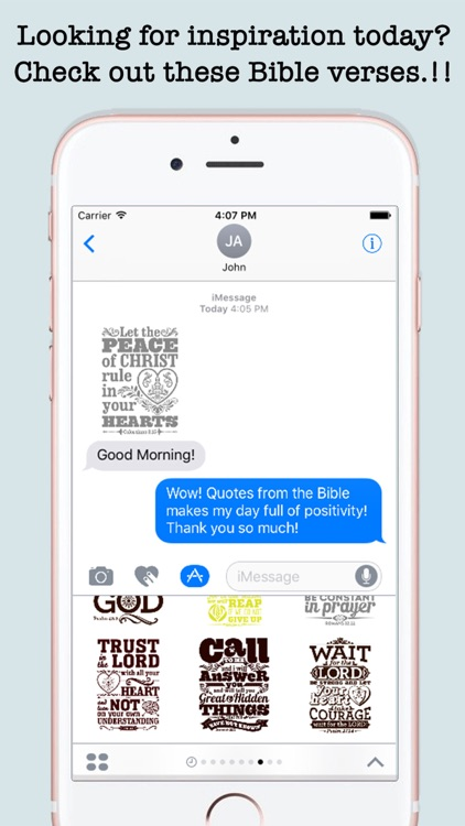 Bible Quotes Stickers For iMessage screenshot-3