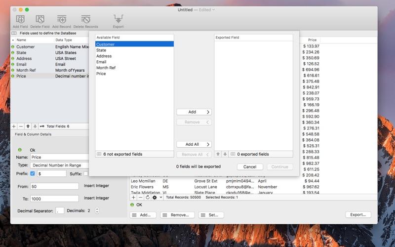 Data Creator Screenshots