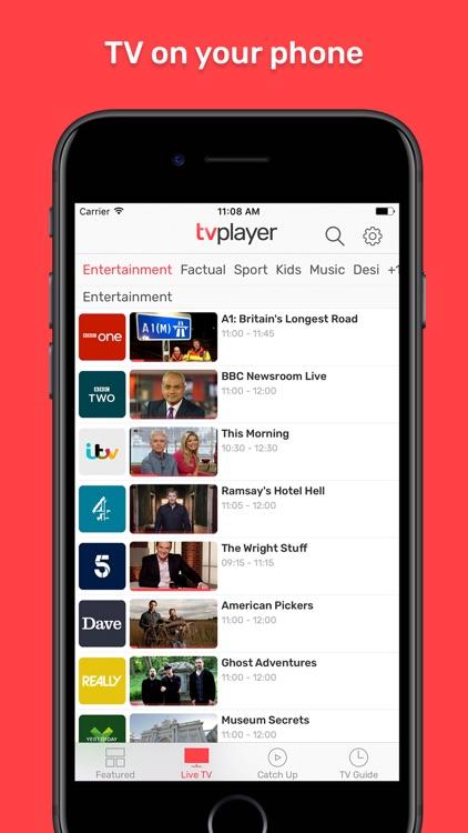 TVPlayer – live and catchup TV screenshot-0