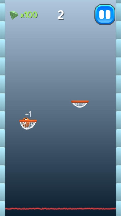 Ball Shot -  Fling to Basket Hoop Screenshot on iOS