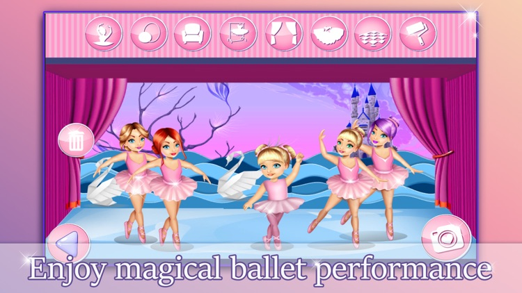 Ballerina Princess Doll House - Game.s for Girls screenshot-3