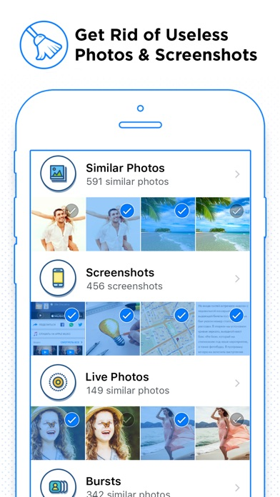 Cleaner for iPhone - Clean and Remove Master for Duplicate Photo and Contacts Screenshot 1