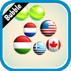 World flags bubble Shooter icon