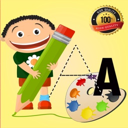 Coloring Book: ABC Spanish page game for kids