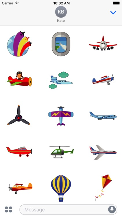 Animated Airplane Stickers