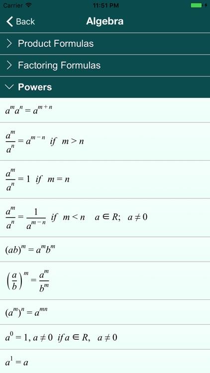 Math Formulas .